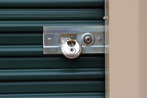 lock on a ministorage door