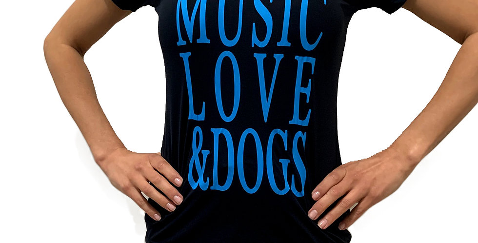 Camiseta Music Love & Dogs GOLA V