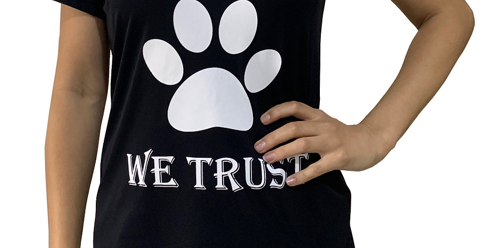 Camiseta In Dog We Trust preta