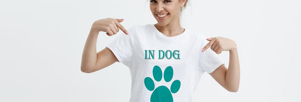 Camiseta In Dog We Trust branca