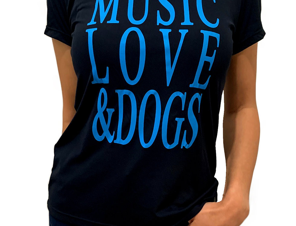 Camiseta Music Love & Dogs