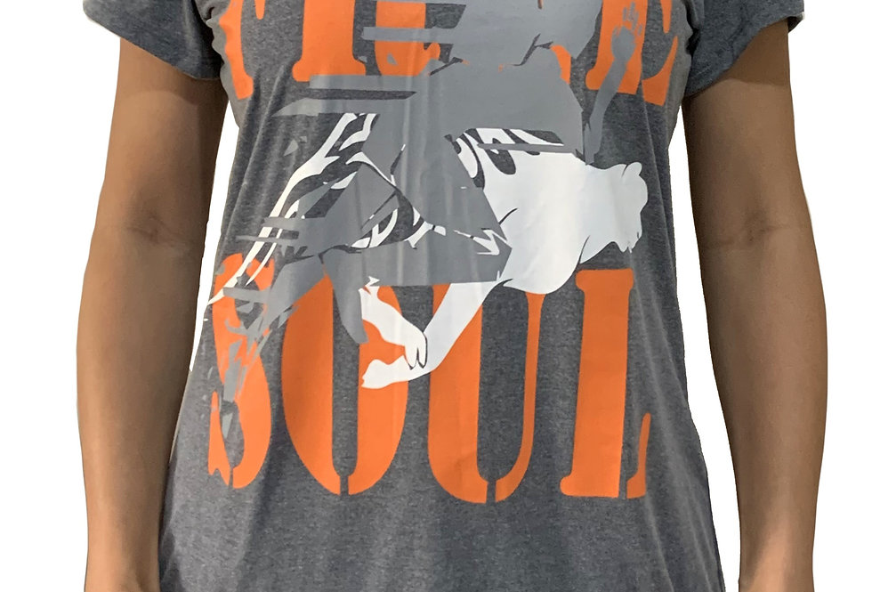 Camiseta Free Soul cinza