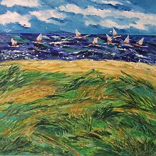 Wind Whipped Seashore.JPG