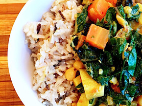 Easy 1-pot delightful dinner: Sweet Potato Carrot Chickpea Curry