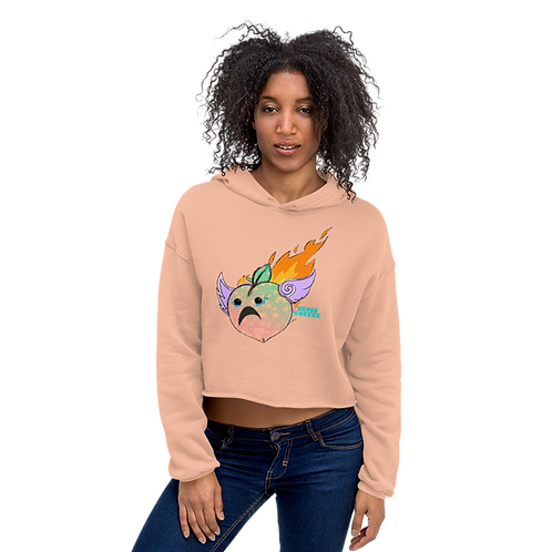 Flaming Peach Crop Hoodie