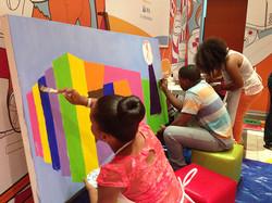 Jovenes Compaz en actividad de Plaza Las