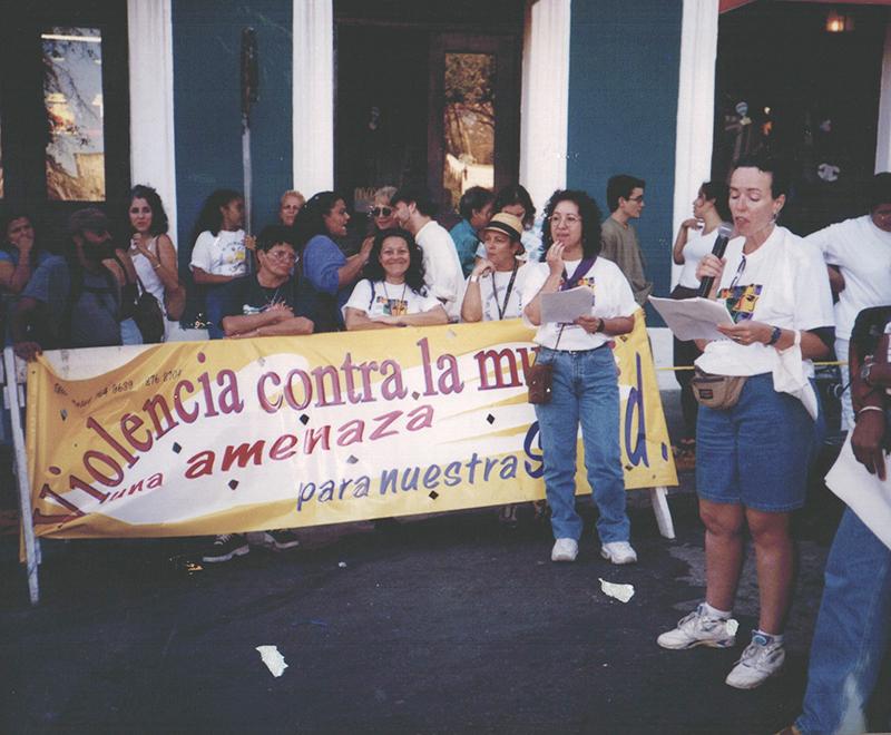 Manifestacion No+violencia contra la muj
