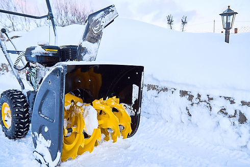 A snow thrower is the best assistant for