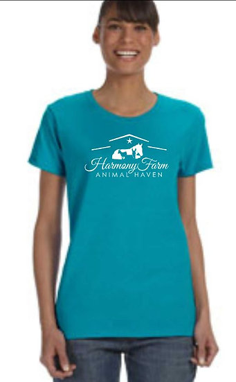Ladies Cut T-shirt (Tropical Blue)