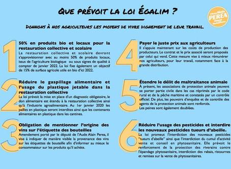 """Que prévoit la loi """"EGALIM"""" en six points..."""