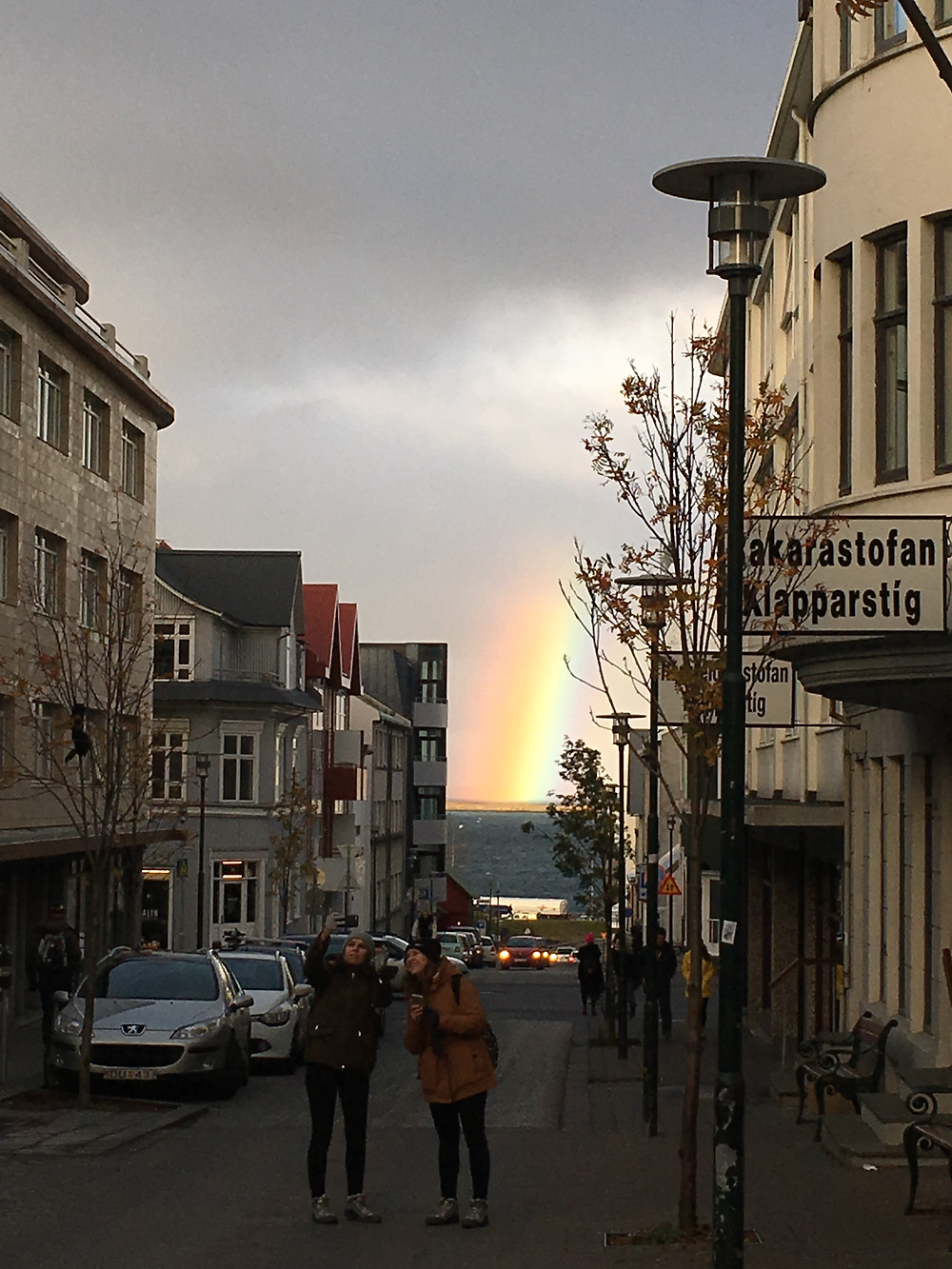 Rainbow in Reykjavik, Iceland