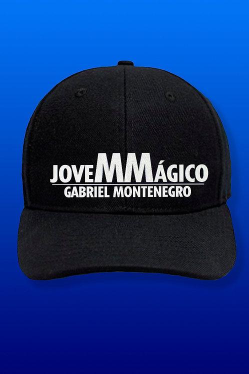 BONÉ JOVEM MÁGICO CLASSIC PRETO COM BRANCO