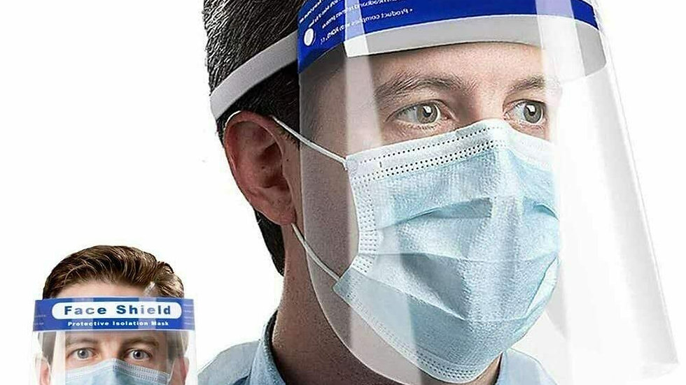 Face Shield With Blue Strip