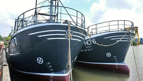 Steel vessels, project managed by Triac, in the water
