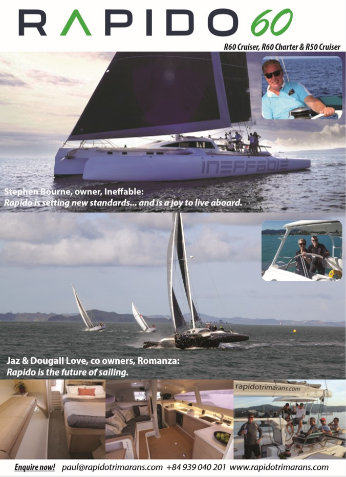 """Rapido is the future of sailing"", say co owners, Jaz and Dougall Love."