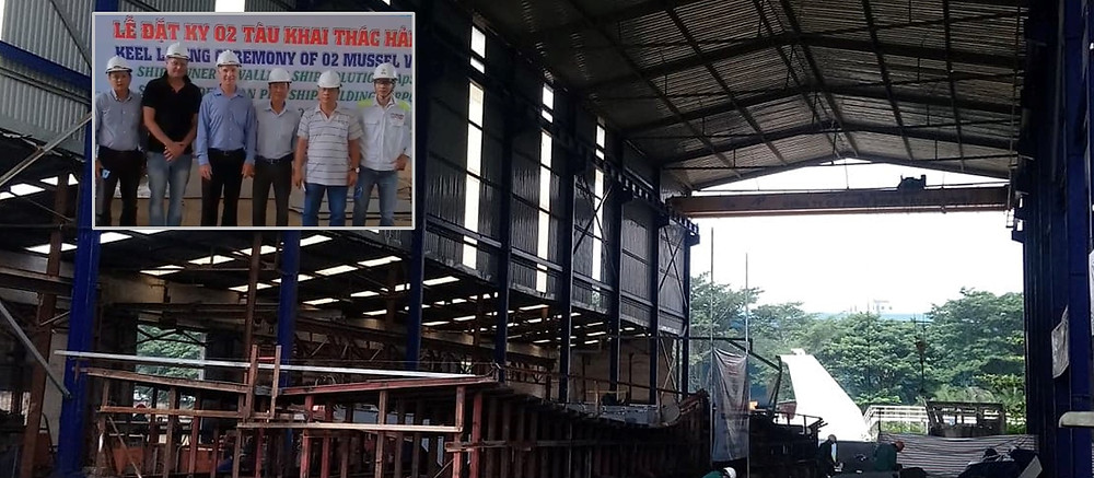 Triac Composites is the Builder Advisor for a commercial fishing vessel. The keel laying ceremony for the steel vessel was held in HCMC yesterday, 15 August 2018. The vessel is being built to international standards for a customer in Europe.