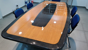 Boardroom table made with composites