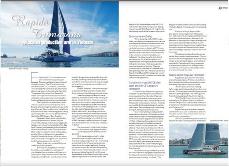 "SEA Yachting magazine publishes article: ""Rapido enters power cat market"""