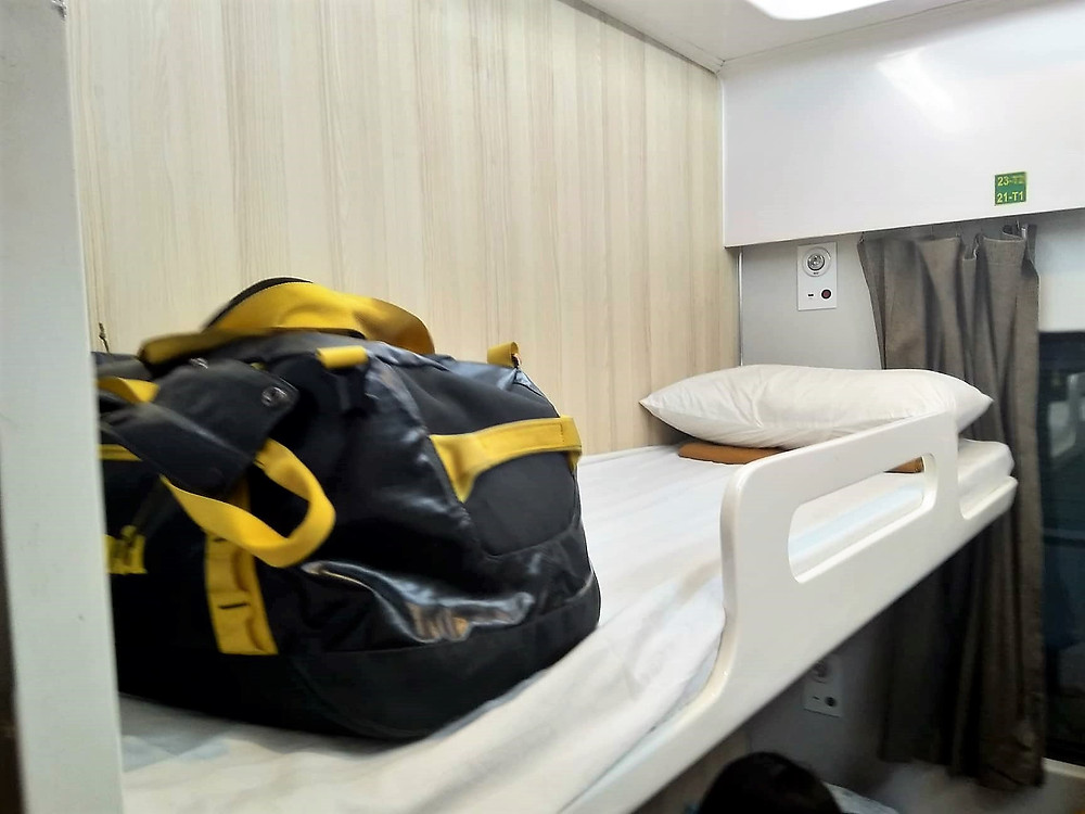 Bill's bunk on the train had been built by Triac Composites as well as the ceilings, walls and table in his cabin. Triac Composites has been supplying Vietnam Railways with interiors, which also include washrooms and electrical cabinets for more than two years.