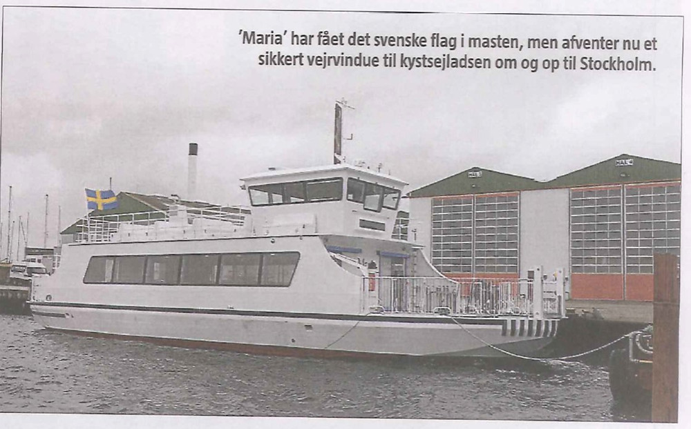A photo of one completed ferry which appeared in a Stockholm newspaper on 2 March 2020.