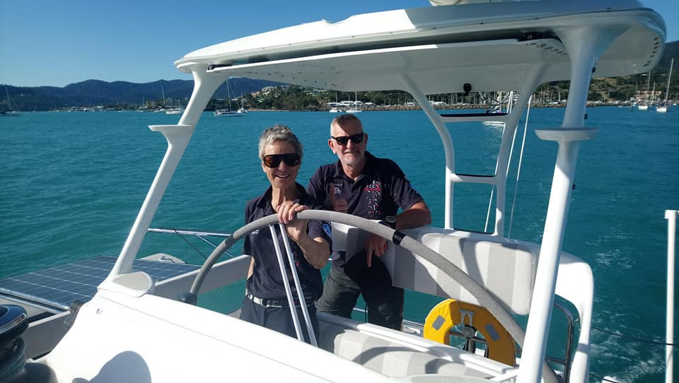 Janice Knowles and Dougall Love have just completed their first Tasman Sea crossing aboard Romanza.