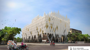Triac manufactures facade for wedding event convention hall