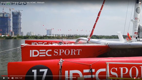 Huge IDEC Sport Trimaran storms into HCMC, Vietnam