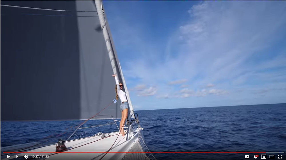 Kellie Peterson sails faster than the wind with Ineffable, the Rapido 60