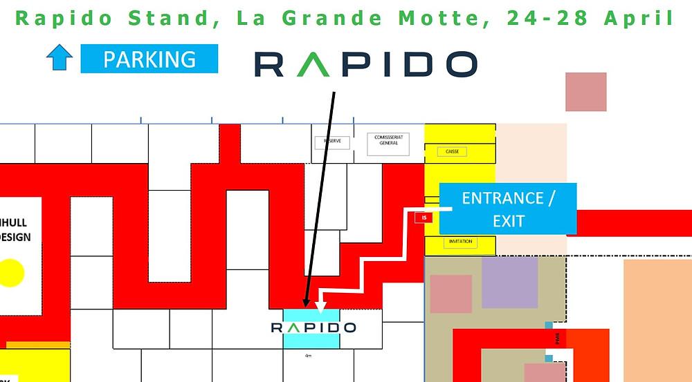Rapido Trimarans will be at La Grande Motte, 24-28 April 2019.