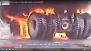 Video: Composite wheel covers for mining trucks improve safety