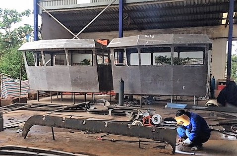 The construction of the two dredgers for a European customer continues in HCMC under Triac Composites' supervision.