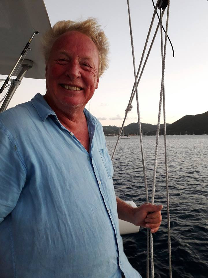 A satisfied Steve Bourne after arriving in St Lucia aboard his Ineffable Rapido 60..