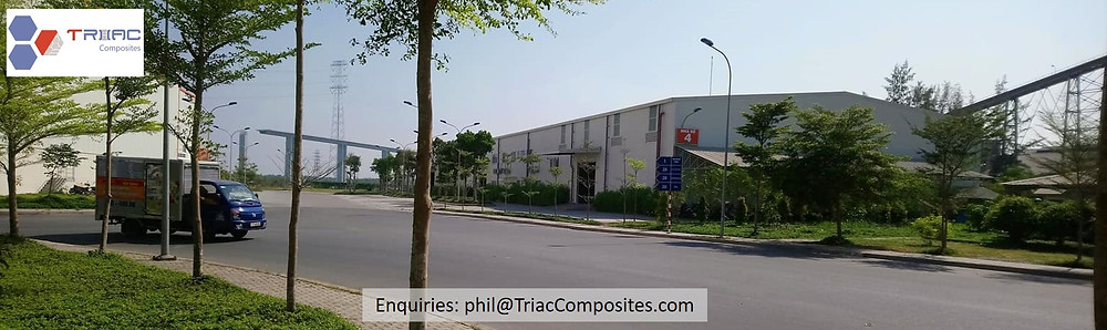 Triac Composites' riverside factory and office in Nha Be District, HCMC, Vietnam.