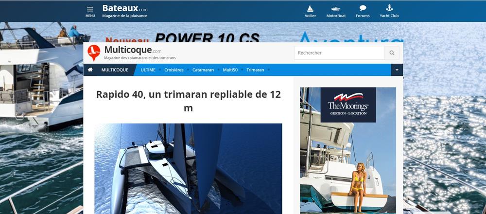 Multicoque Magazine (Fr) features Rapido 40