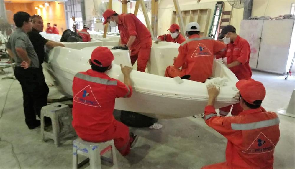 Triac Composites, power boat repairs