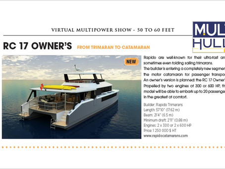 Multihulls World magazine on RC17 Owner's