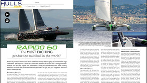 "Rapido - ""among the fastest and most seductive multihulls to ever exist"", Multihulls World magazine"