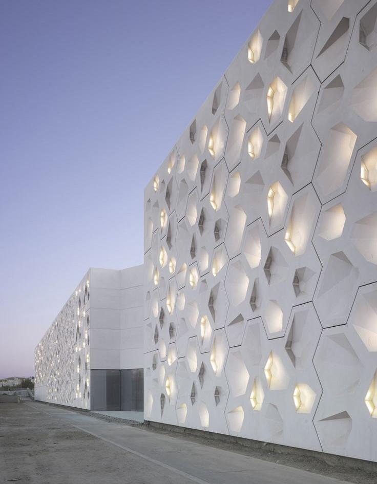Composite building facade examples