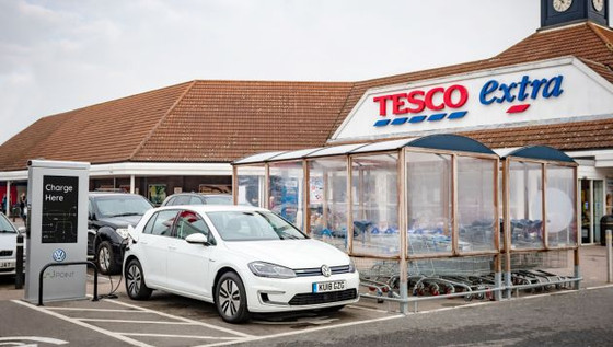 VW, Pod Point & Tesco collaborate for EV charge point expansion