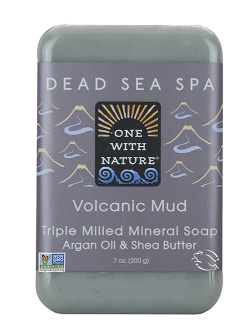 One with Nature, Triple Milled Mineral Soap, Volcanic Mud(200 g)