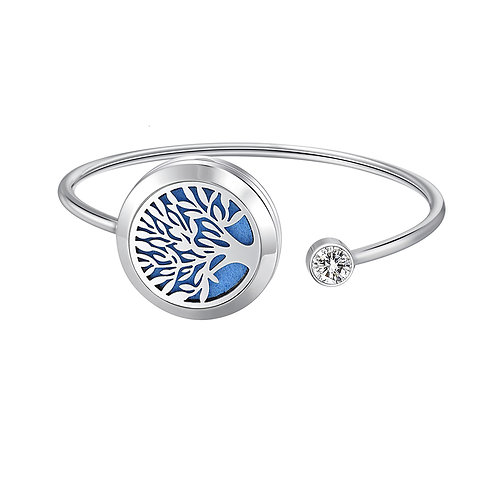 Stainless Steel Essential Oil Diffuser Bracelet - Tree of Life