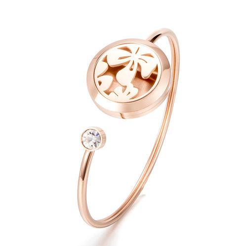 Aromatherapy Diffuser Bracelet - Rose Gold