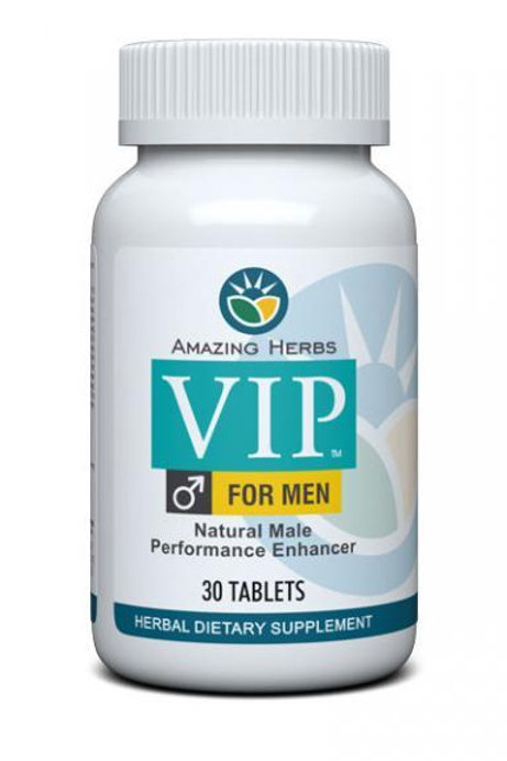 Amazing Herbs VIP For Men NATURAL Male Performance Enhancer 30 tablets