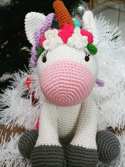 Handmade Crochet Rainbow Unicorn