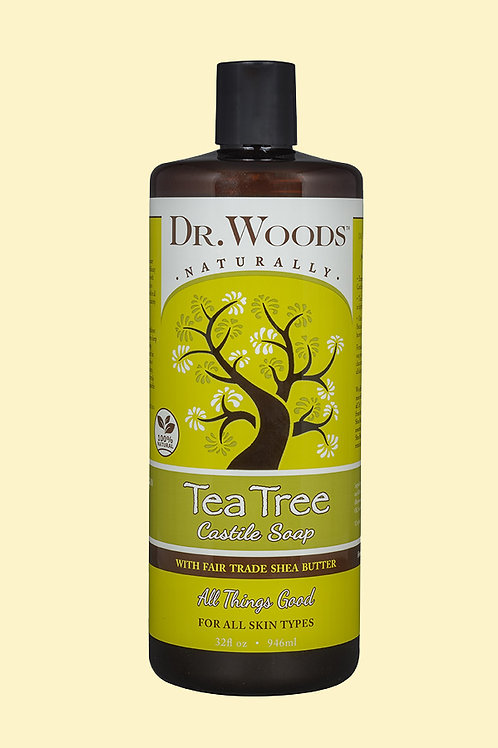 Dr. Woods, Tea Tree Castile Soap with Fair Trade Shea Butter (946 ml)