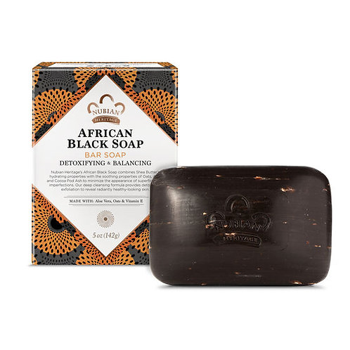 Nubian Heritage, African Black Bar Soap (142 g)