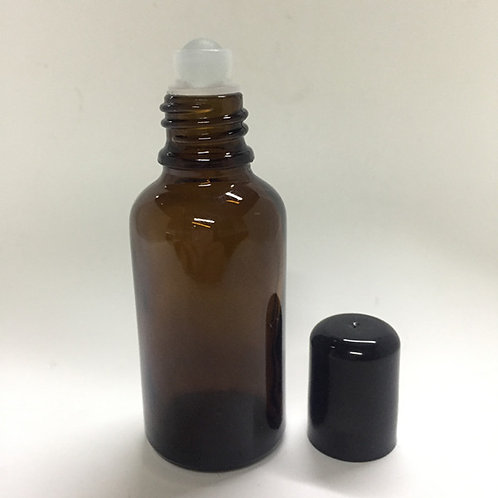 Amber Glass Roll-On Bottle 30ml