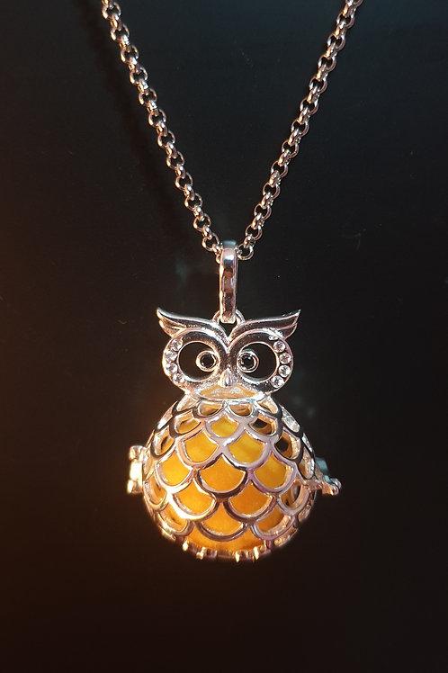 Owl Diffuser Locket Necklace