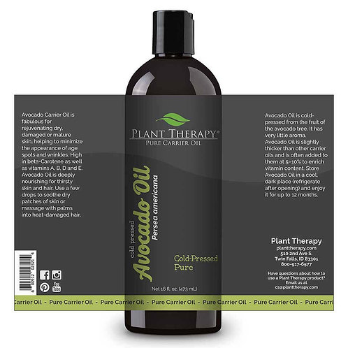 Plant Therapy Avocado Carrier Oil 473ml