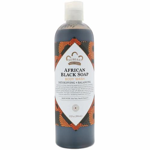 Nubian Heritage, African Black Soap Body Wash (384 ml)